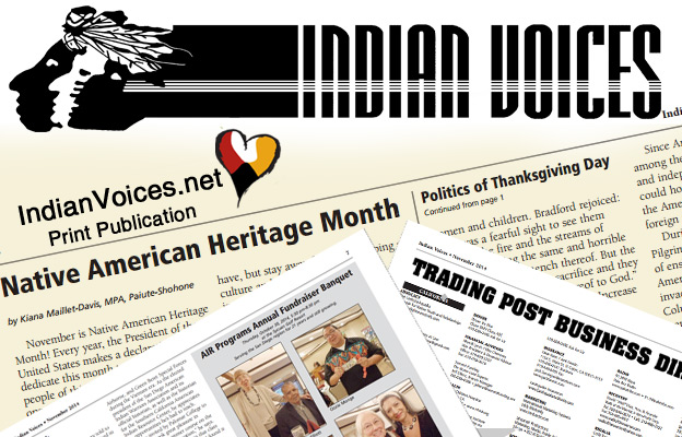 Indian Voices, Native American Newspaper by Rose Davis