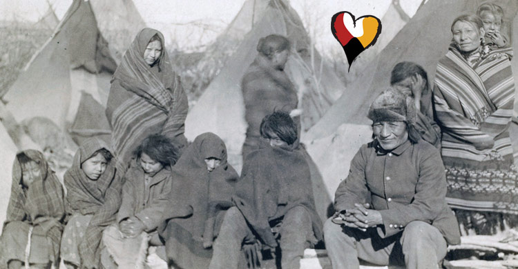 Wounded Knee Massacre in South Dakota, Dec. 29, 1890
