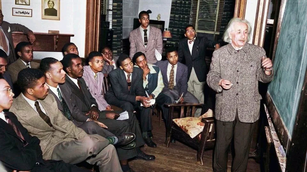 Albert Einstein at Lincoln University